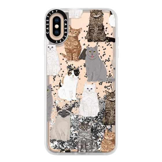 iPhone XS Max Cases - Cat breeds must have cat lady gifts unique one of a kind transparent cell phone case pet friendly designs