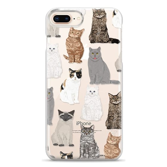 iPhone 8 Plus Cases - Cat breeds must have cat lady gifts unique one of a kind transparent cell phone case pet friendly designs