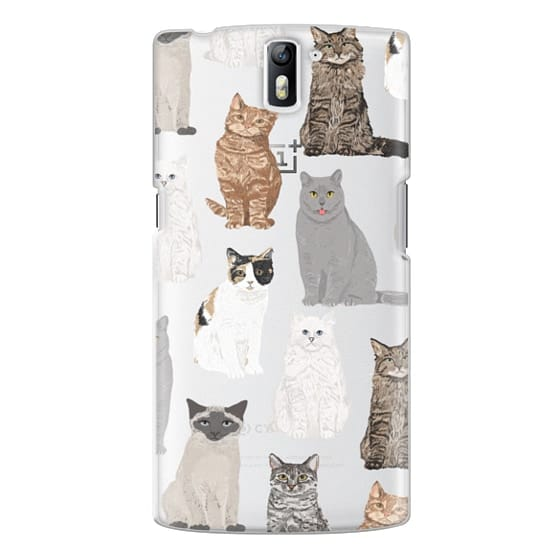 One Plus One Cases - Cat breeds must have cat lady gifts unique one of a kind transparent cell phone case pet friendly designs