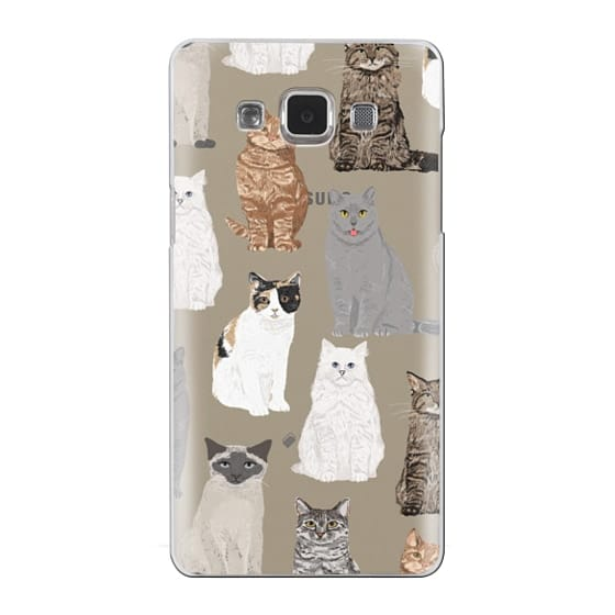 Samsung Galaxy A5 Cases - Cat breeds must have cat lady gifts unique one of a kind transparent cell phone case pet friendly designs