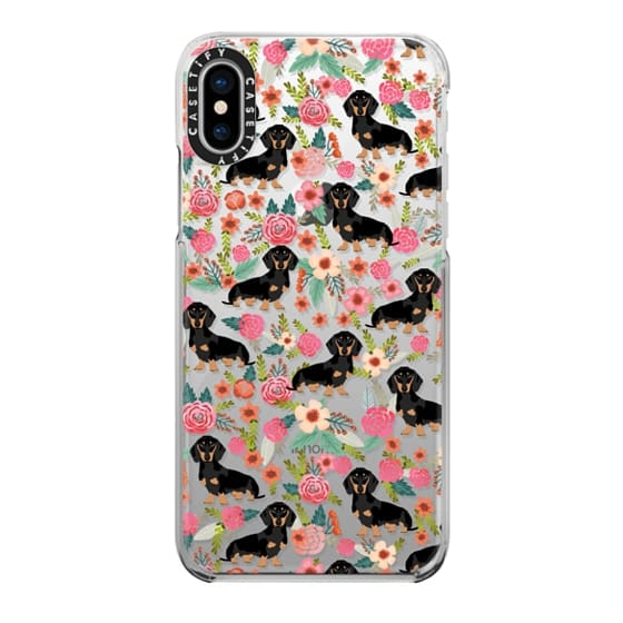 iPhone X Cases - Dachshund moxie cute florals weener dog must have gifts for dog person dog breed