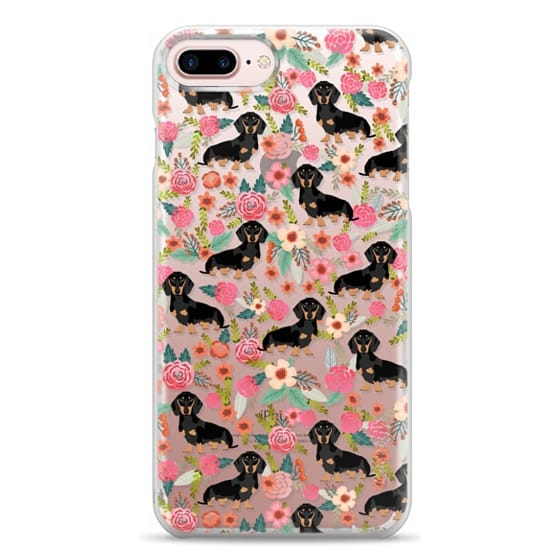 iPhone 7 Plus Cases - Dachshund moxie cute florals weener dog must have gifts for dog person dog breed