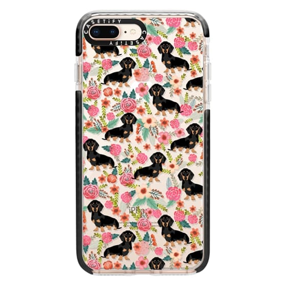 iPhone 8 Plus Cases - Dachshund moxie cute florals weener dog must have gifts for dog person dog breed