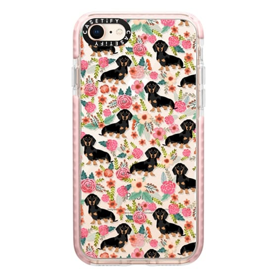 iPhone 8 Cases - Dachshund moxie cute florals weener dog must have gifts for dog person dog breed