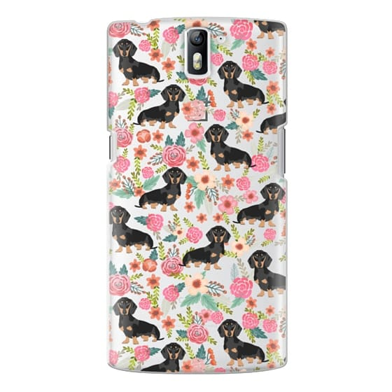One Plus One Cases - Dachshund moxie cute florals weener dog must have gifts for dog person dog breed