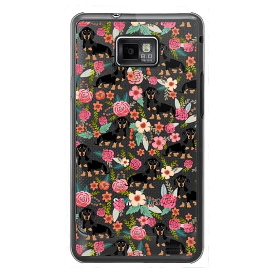 Samsung Galaxy S2 Cases - Dachshund moxie cute florals weener dog must have gifts for dog person dog breed