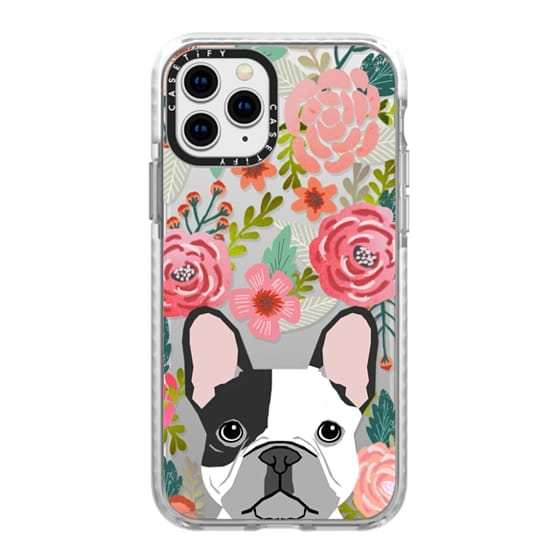 iPhone 11 Pro Cases - French Bulldog black and white cute bulldog frenchie puppy cell phone transparent iphone6 gold trendy dog person gifts
