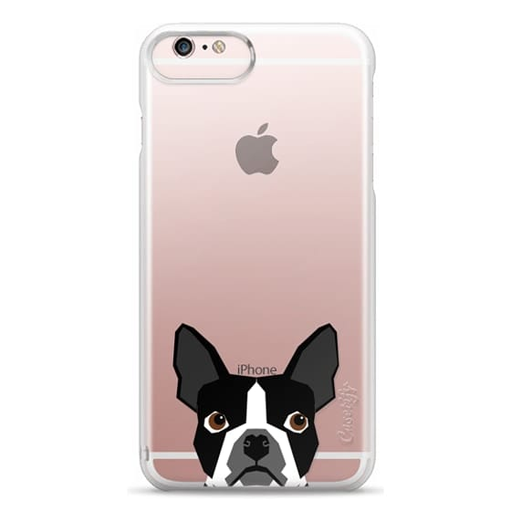 iPhone 6s Plus Cases - Boston Terrier Cell Phone case for dog lovers dog person gifts clear iphone case black and white puppy