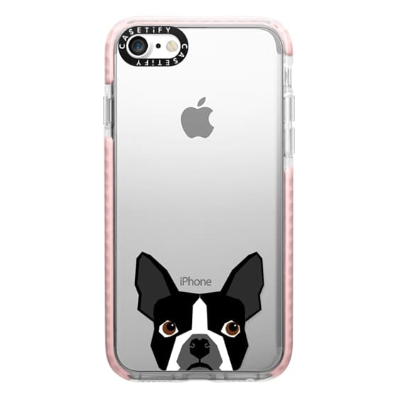 iPhone 7 Cases - Boston Terrier Cell Phone case for dog lovers dog person gifts clear iphone case black and white puppy