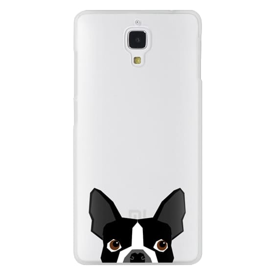 Xiaomi 4 Cases - Boston Terrier Cell Phone case for dog lovers dog person gifts clear iphone case black and white puppy