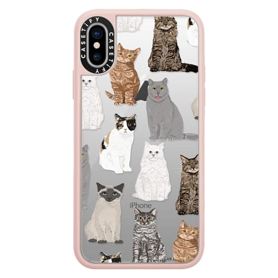 iPhone X Cases - Cat breeds must have cat lady gifts unique one of a kind transparent cell phone case pet friendly designs