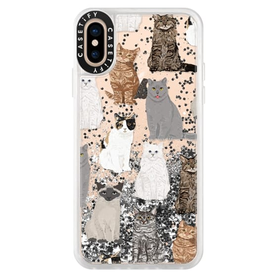 iPhone XS Cases - Cat breeds must have cat lady gifts unique one of a kind transparent cell phone case pet friendly designs