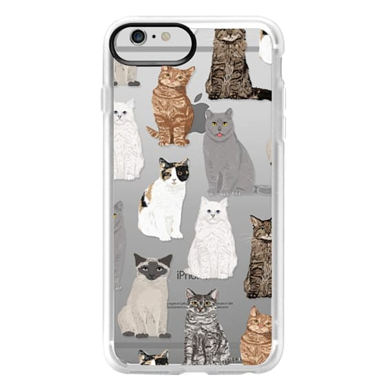 iPhone 6 Plus Cases - Cat breeds must have cat lady gifts unique one of a kind transparent cell phone case pet friendly designs