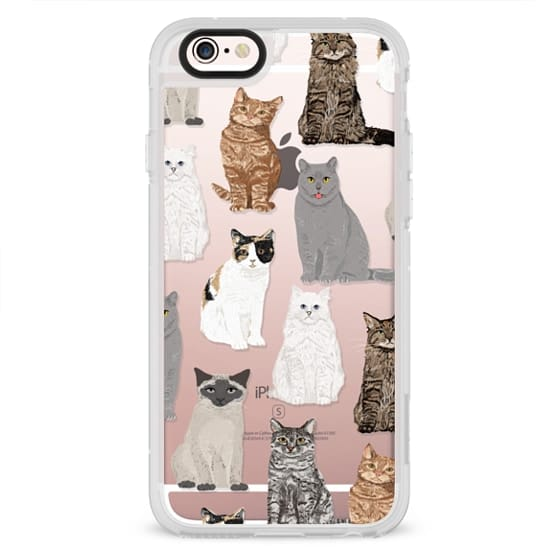 iPhone 4 Cases - Cat breeds must have cat lady gifts unique one of a kind transparent cell phone case pet friendly designs