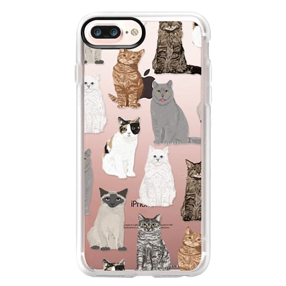 iPhone 7 Plus Cases - Cat breeds must have cat lady gifts unique one of a kind transparent cell phone case pet friendly designs