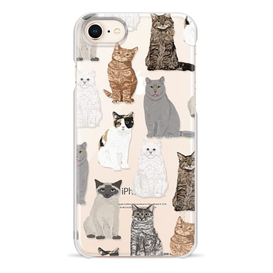 iPhone 8 Cases - Cat breeds must have cat lady gifts unique one of a kind transparent cell phone case pet friendly designs