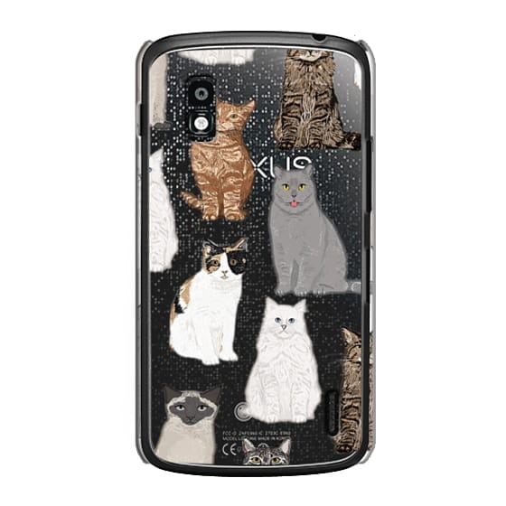 Nexus 4 Cases - Cat breeds must have cat lady gifts unique one of a kind transparent cell phone case pet friendly designs