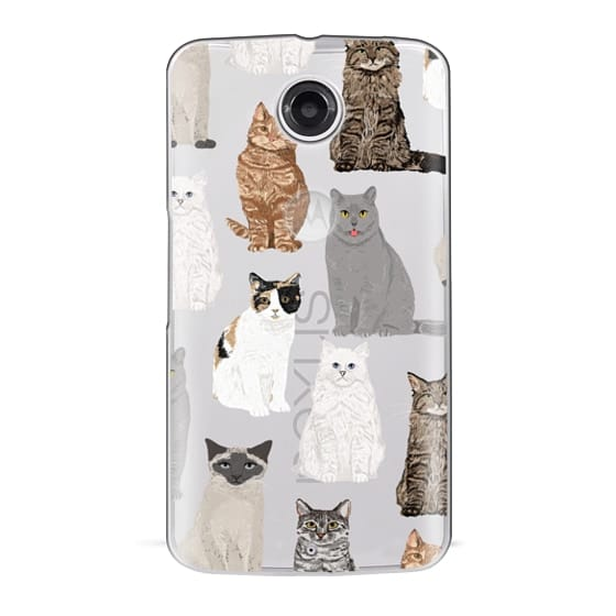 Nexus 6 Cases - Cat breeds must have cat lady gifts unique one of a kind transparent cell phone case pet friendly designs