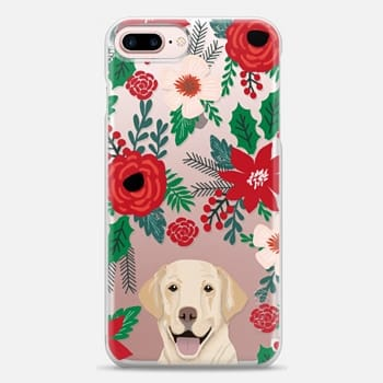 iphone 7 plus case yellow lab christmas holly and mistletoe best gift for labrador owners pet