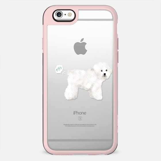 Bichon Frise clear case dog fart funny tech accessories pure breed dog lover