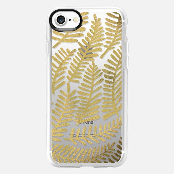 Gold Fronds - Wallet Case