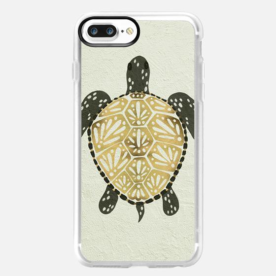 Painted Sea Turtle (Black & Gold) -