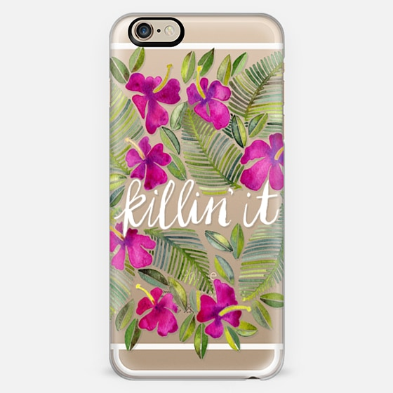 Killin' It – Tropical Pink on Transparent -