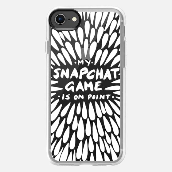 Snapchat – White on Transparent - Snap Case