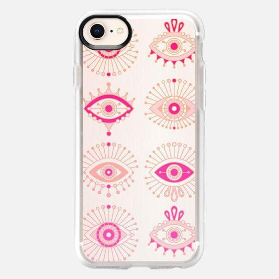 Evil Eyes - Pink/Peach Ombré - Snap Case