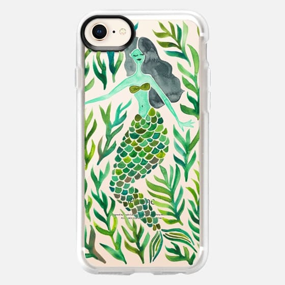 Kelp Forest Mermaid - Green Palette (Transparent) - Snap Case