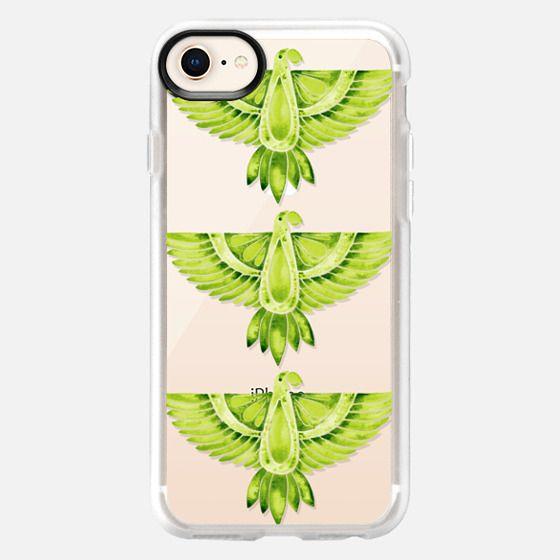Lime Green Parrots – Transparent - Snap Case