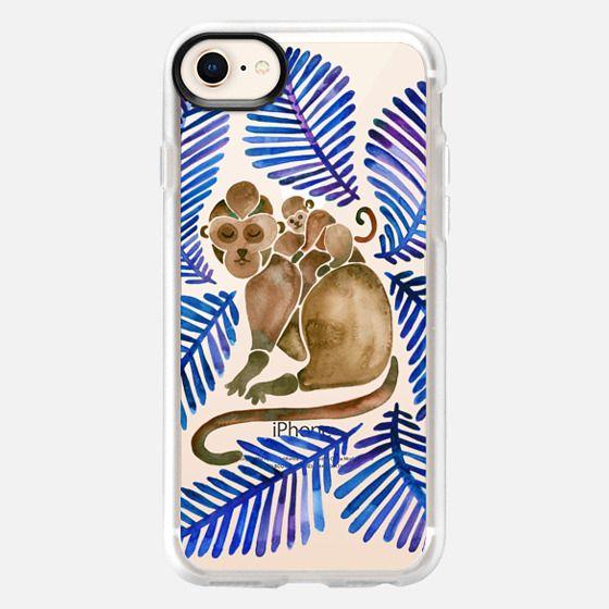 Tropical Monkeys - Navy Palette - Snap Case