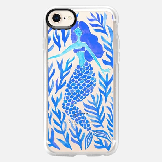 Kelp Forest Mermaid - Blue Palette (Transparent) - Snap Case