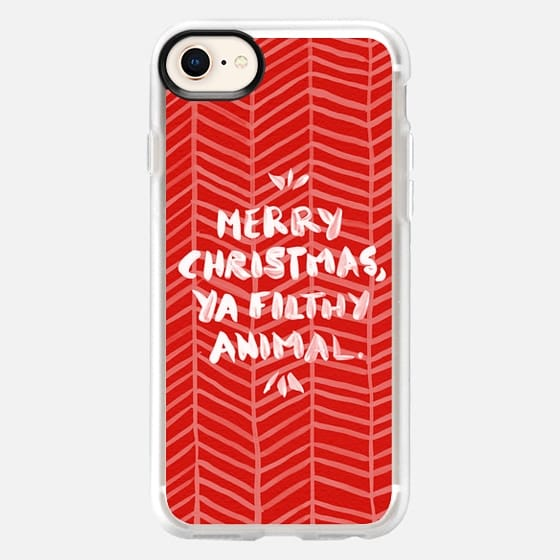 Merry Christmas, Ya Filthy Animal – Red - Snap Case