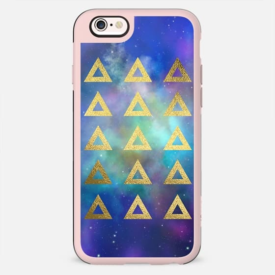 Gold Galaxy Triangles - New Standard Case