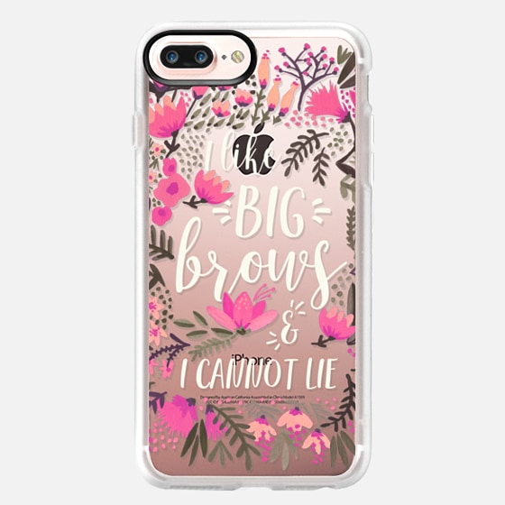 iPhone 7 Plus Case - Big Brows by CatCoq