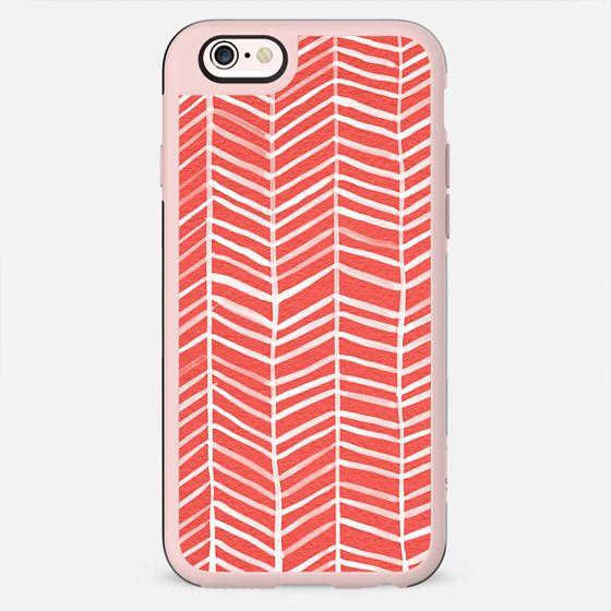 Herringbone – Coral - New Standard Case