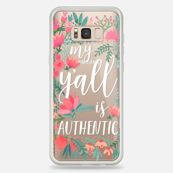 Galaxy S8+ Case - My Y'all is Authentic by CatCoq