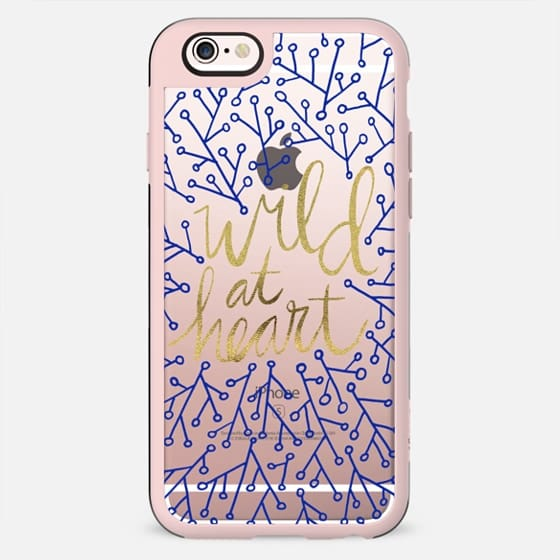 Wild at Heart – Navy & Gold – Transparent - New Standard Case