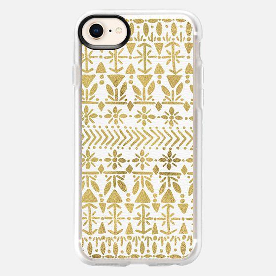 Norwegian Pattern – Gold - Snap Case