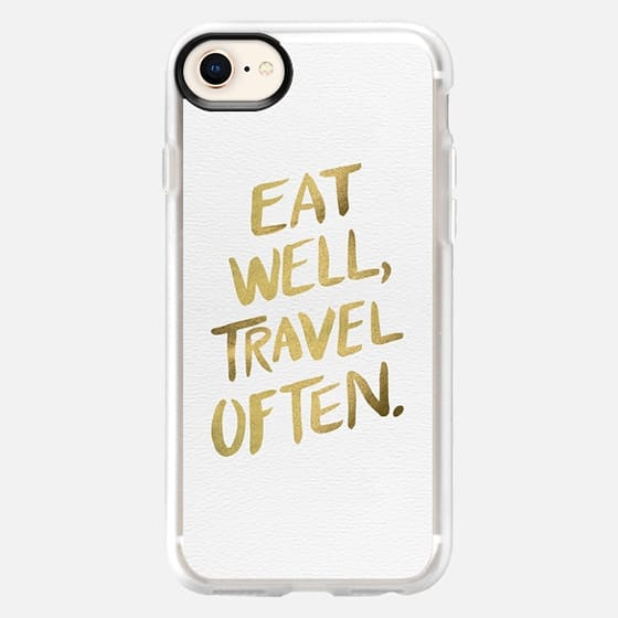 Eat Well Travel Often (Gold) - Snap Case