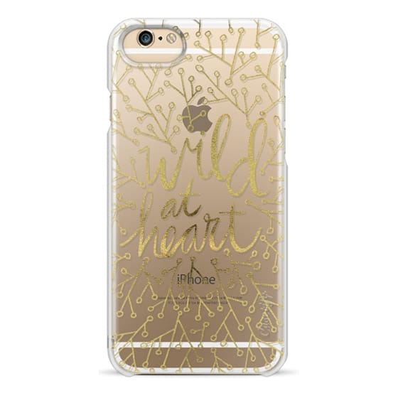 iPhone 6s Cases - Wild at Heart – Gold on Transparent