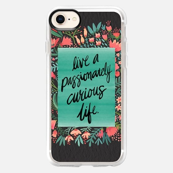 Passionately Curious Life (Charcoal) - Snap Case
