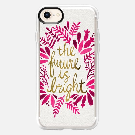 The Future is Bright – Pink & Gold - Snap Case