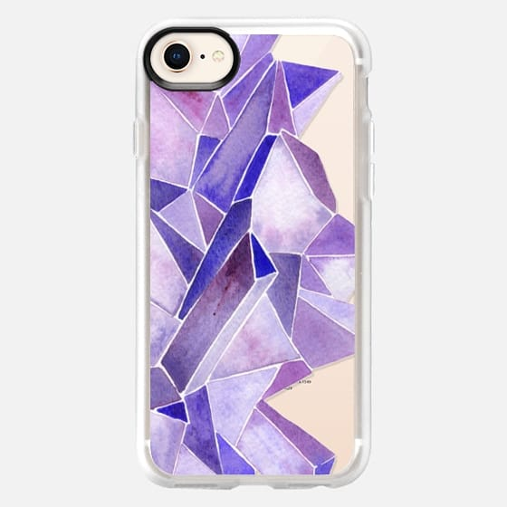 Watercolor Amethyst - Snap Case