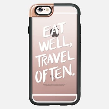 iPhone 6s Case Eat Well, Travel Often. (White Ink)