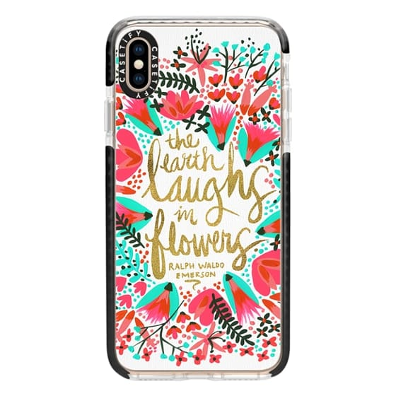 iPhone XS Max Cases - The Earth Laughs in Flowers – Pink & Gold