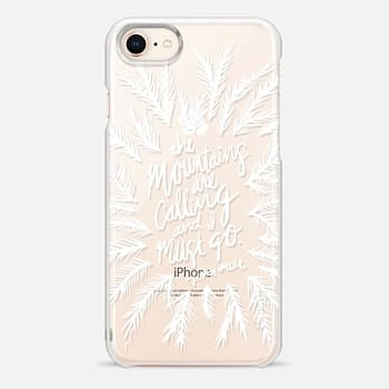 iPhone 8 Case Mountains are Calling – White