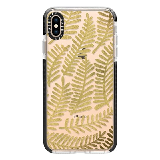 iPhone XS Max Cases - Gold Fronds