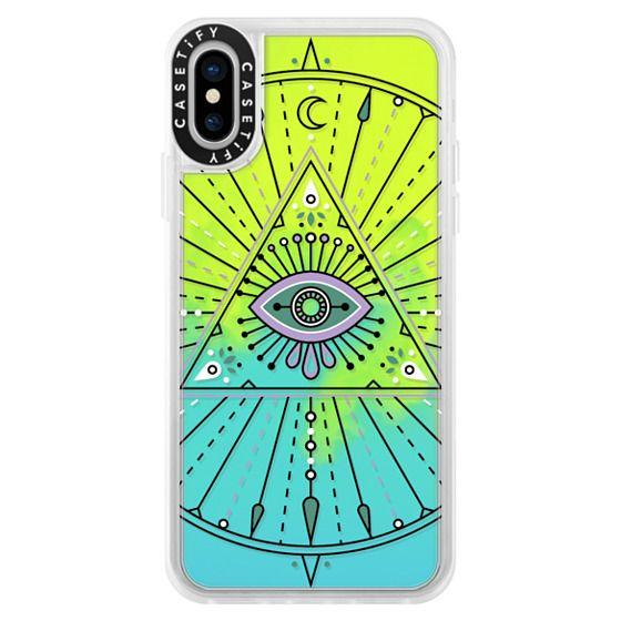 iPhone X Cases - Evil Eye Mandala – Black on Transparent